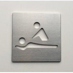 Pictogramme - massage - kiné - osthéopathe inox