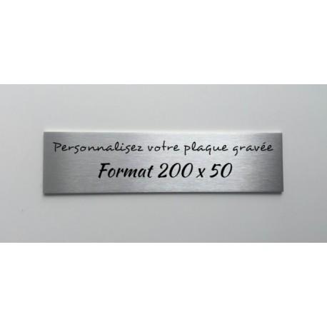 Plaques de portes - 200 x 50mm