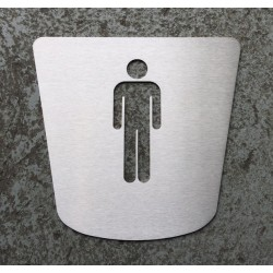 Men's toilet Pictogram – 6,69 x 6,30 inches ( 170 x 160 mm ) - (DISCONTINUED ITEM )
