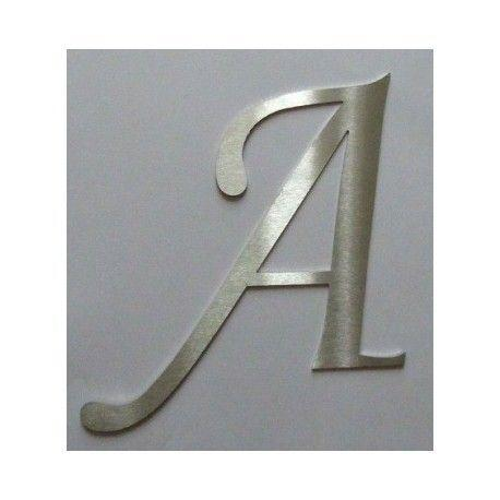 Design 1 – Brushed stainless steel letters for wall decoration –  Double-sided fixing – 5,91 inches (150mm)