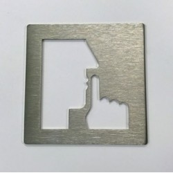 Pictogramme inox Courrier - 100x100 ou 150x150