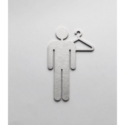 Men's cloakroom pictogram – 3,94/5,91 inches ( 100/150 mm )