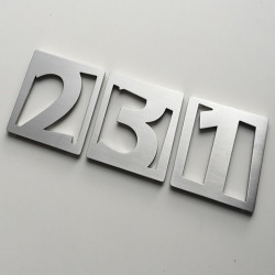 The Faceb Design – Brushed stainless steel figure – 2mm thick – 2,36 X 2,36 inches (60X60 mm)