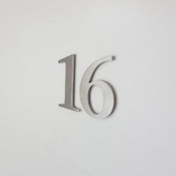 The Stone serif Design – Brushed stainless steel figure – Height from 1,97 to 3,35 inches (from 50 to 85 mm)