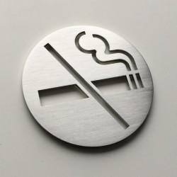 No smoking pictogram – Diameter 2,44 inches ( 62 mm ) or 3,94 inches ( 100 mm ) or 5,91 inches ( 150 mm )