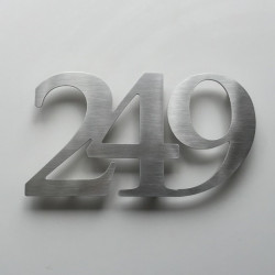 The Assembled Number Design – Brushed stainless steel – Height from 1,97 or 2,76 to 3,94 inches (50, 70, 100mm)