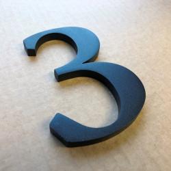 Design Stone serif - Chiffre inox brossé - 11cm ep8mm