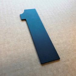 Design Haettenschweiler - Chiffre inox brossé - Taille de 5 à 30cm
