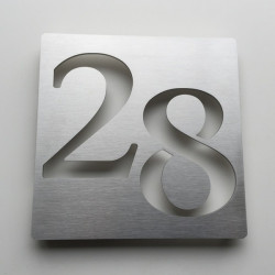 Brushed stainless steel plaques – 6,93X6,93 inches (176X176mm)or 7,68X5,12 inches (195X130mm)