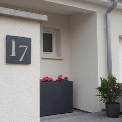 Plaque habitation inox peinture au four - 176x176 ou 195x130