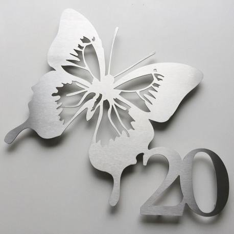 Numéro habitation papillon - 375mm x 335mm