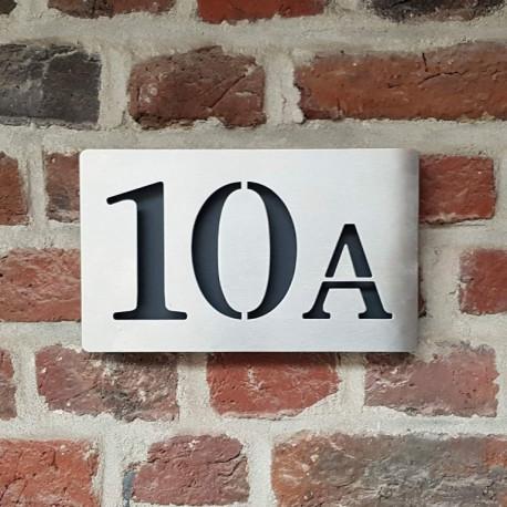 Plaque habitation inox brossé - 176x176 ou 195x130