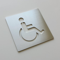PRM Wheelchair Pictogram – 3,94 x 3,94 inches (100 x 100 mm) or 5,91 x 5,91 inches ( 150 x 150 mm )