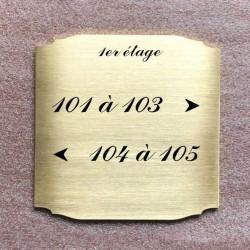 Pictogramme inox à graver Diam 100 - TEXTE