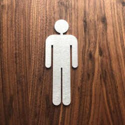 Men's toilet Pictogram - 3,94 or 5,91 inches ( 100 / 150 mm )