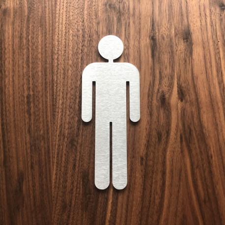Pictogramme homme toilettes 10/15cm