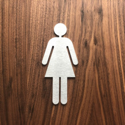Women's toilet Pictogram - 3,94 or 5,91 inches ( 100 / 150 mm )