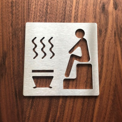 Sauna pictogram – 3,94 x 3,94 inches ( 100 x 100 mm ) or 5,91 x 5,91 inches ( 150 x 150 mm )