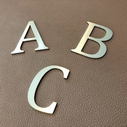Lacier Design – Brushed stainless steel letter – Height : from 1,97 to 11,81 inches (from 50 to 300mm)