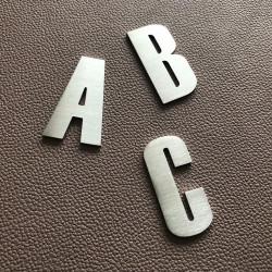 Design Century Gothic - Lettre inox brossé - Taille de 8 à 15cm