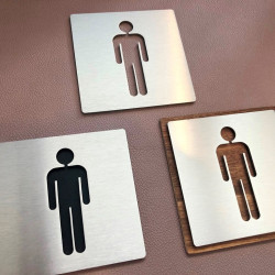 Men's toilet Pictogram – 3,94 x 3,94 inches ( 100 x 100 mm ) or 5,91 x 5,91 inches ( 150 x 150 mm )