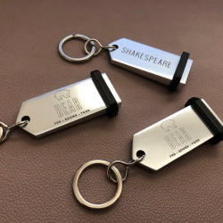 Aluminum keyrings to be personalized – Laser etching – 2,95 X 1,18 inches ( 75 X 30 mm )