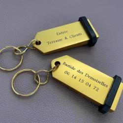 Porte-clés à personnaliser gravure laser - TEXTE