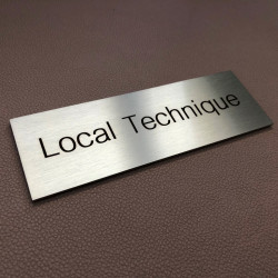 Stainless steel plaque to be personalized – Laser etching – 5,91 x 1,97 inches ( 150 x 50 mm )