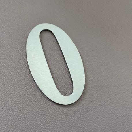 Design Lacier - Chiffre inox brossé - Taille de 5 à 30cm